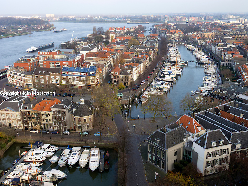 View over city of Dordrecht in The Netherlands