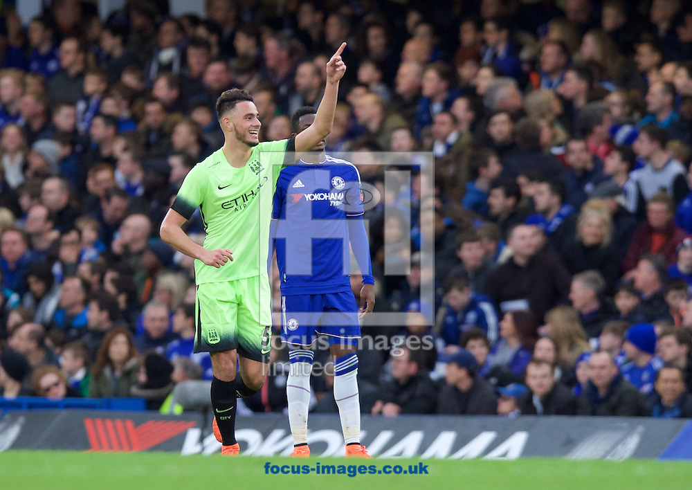 David Faupala of Manchester City (51) celebrates scoring the equaliser to make it 1-1 during the FA Cup match at Stamford Bridge, London<br /> Picture by Alan Stanford/Focus Images Ltd +44 7915 056117<br /> 21/02/2016
