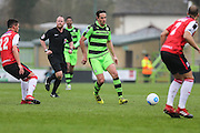 Forest Green Rovers Darren Carter(12) passes the ball during the Vanarama National League match between Forest Green Rovers and Woking at the New Lawn, Forest Green, United Kingdom on 25 February 2017. Photo by Shane Healey.