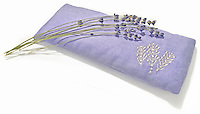 real lavender on a lavender eye pillow
