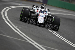 March 24, 2018 - Melbourne, Victoria, Australia - STROLL Lance (can), Williams F1 Mercedes FW41, action during 2018 Formula 1 championship at Melbourne, Australian Grand Prix, from March 22 To 25 - s: FIA Formula One World Championship 2018, Melbourne, Victoria : Motorsports: Formula 1 2018 Rolex  Australian Grand Prix, (Credit Image: © Hoch Zwei via ZUMA Wire)