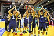 DESCRIZIONE : Campionato 2013/14 Dinamo Banco di Sardegna Sassari - Sutor Montegranaro<br /> GIOCATORE : Team<br /> CATEGORIA : Ritratto Delusione<br /> SQUADRA : Sutor Montegranaro<br /> EVENTO : LegaBasket Serie A Beko 2013/2014<br /> GARA : Dinamo Banco di Sardegna Sassari - Sutor Montegranaro<br /> DATA : 30/03/2014<br /> SPORT : Pallacanestro <br /> AUTORE : Agenzia Ciamillo-Castoria / Luigi Canu<br /> Galleria : LegaBasket Serie A Beko 2013/2014<br /> Fotonotizia : Campionato 2013/14 Dinamo Banco di Sardegna Sassari - Sutor Montegranaro<br /> Predefinita :