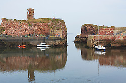 View of harbour at Dunbar in East Lothian, Scotland, UK