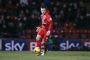 York City midfielder James Berrett  during the Sky Bet League 2 match between York City and Exeter City at Bootham Crescent, York, England on 16 February 2016. Photo by Simon Davies.