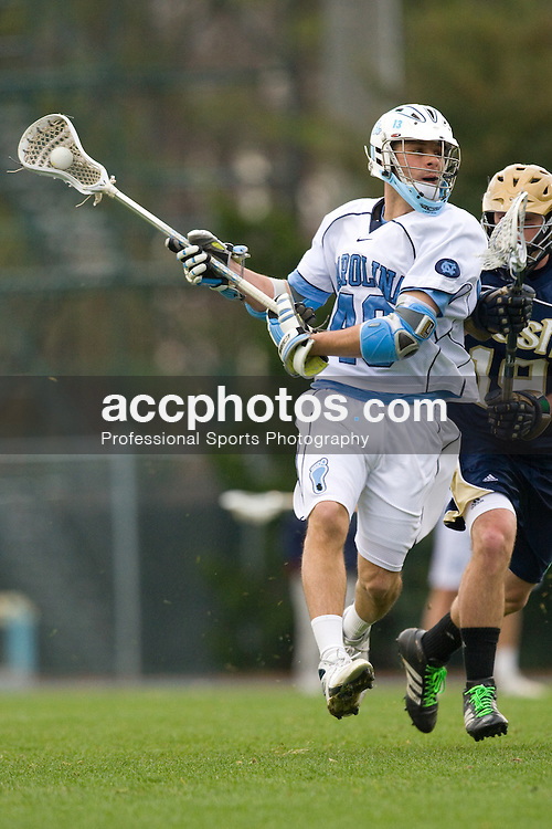 08 March 2008: North Carolina Tar Heels midfielder Rob Driscoll (40) during a 6-8 win over the Notre Dame Fighting Irish on Fetzer Field in Chapel Hill, NC.
