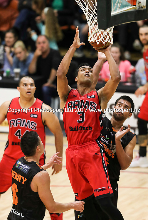 Rams Marcel Jones. Hawks v Rams, NBL Basketball, PG Arena, Napier, New Zealand. Tuesday, 25 April 2017. Copyright photo: John Cowpland / www.photosport.nz