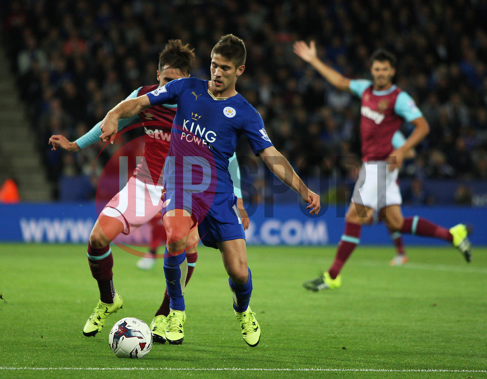 Andrej Kramaric of Leicester City (R) in action  - Mandatory byline: Jack Phillips/JMP - 07966386802 - 22/09/2015 - SPORT - FOOTBALL - Leicester - King Power Stadium - Leicester City v West Ham United - Capital One Cup Round 3