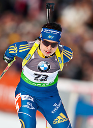 "19.01.2012, Südtirol Arena, Antholz, ITA, E.ON IBU Weltcup, 6. Biathlon, Antholz, Sprint Damen, im Bild Elisabeth Hoegberg (SWE) // Elisabeth Hoegberg (SWE) during Sprint Women E.ON IBU World Cup 6th, ""South Tyrol Arena"", Antholz-Anterselva, Italy on 2012/01/19, EXPA Pictures © 2012, PhotoCredit: EXPA/ Juergen Feichter"