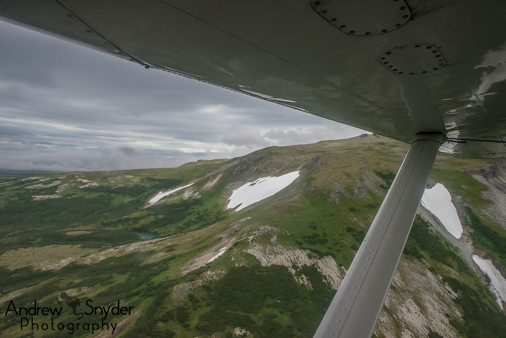 An aerial over Katmai, Alaska