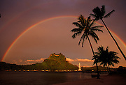 Bora Bora; French Polynesia; tahiti; south pacific. rainbow