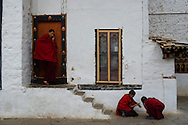 "Paro, Bhutan. The dzong Rinpung, built in 1646. The name means a ""fortress that sits on a heap of jewels""."