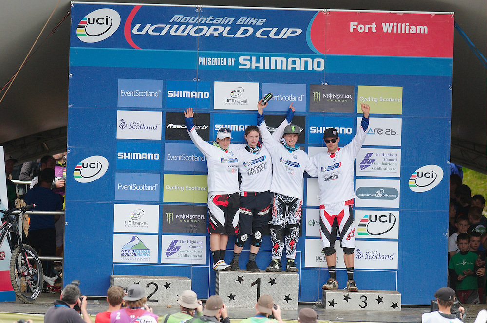 UCI World Cup downhill, Fort William, Scotland. June 2011