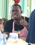 Usain Bolt visits Jamie Oliver on Southend Pier