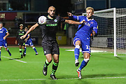 Forest Green Rovers Farrend Rawson(6) holds the ball up during the EFL Sky Bet League 2 match between Carlisle United and Forest Green Rovers at Brunton Park, Carlisle, England on 17 September 2019.