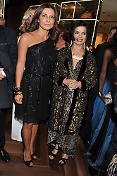 Left to right, ELLA KRASNER and BIANCA JAGGEr at a party hosted by Roberto Cavalli to celebrate his new Boutique's opening at 22 Sloane Street, London followed by a party at Battersea Power Station, London SW8 on 17th September 2011.