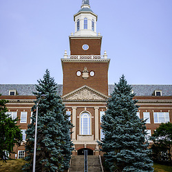 Photo of McMicken Hall at the University of Cincinnati. McMicken Hall is part of the McMicken College of Arts and Sciences which is named after Charles McMicken. Image is vertical, high resolution and was taken in 2012.