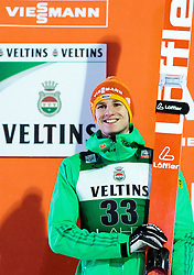 21.02.2016, Salpausselkae Schanze, Lahti, FIN, FIS Weltcup Ski Sprung, Lahti, Herren, Siegerehrung, im Bild Karl Geiger (GER, 2. Platz) // 2nd placed Karl Geiger of Germany during Winner Award Ceremony of Mens FIS Skijumping World Cup of the Lahti Ski Games at the Salpausselkae Hill in Lahti, Finland on 2016/02/21. EXPA Pictures © 2016, PhotoCredit: EXPA/ JFK