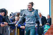 Leeds United defender Luke Ayling (2) arrives at the ground during the EFL Sky Bet Championship match between Leeds United and Queens Park Rangers at Elland Road, Leeds, England on 2 November 2019.