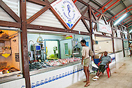 The fish market in Cayenne, French Guiana.