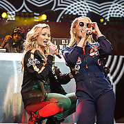 "WASHINGTON, DC - December 15th, 2014 - Iggy Azalea  and Rita Ora perform onstage during HOT 99.5's Jingle Ball 2014 at the Verizon Center in Washington, D.C. Her single ""Fancy"" reached number one on the Billboard Hot 100. (Photo By Kyle Gustafson / For The Washington Post)"