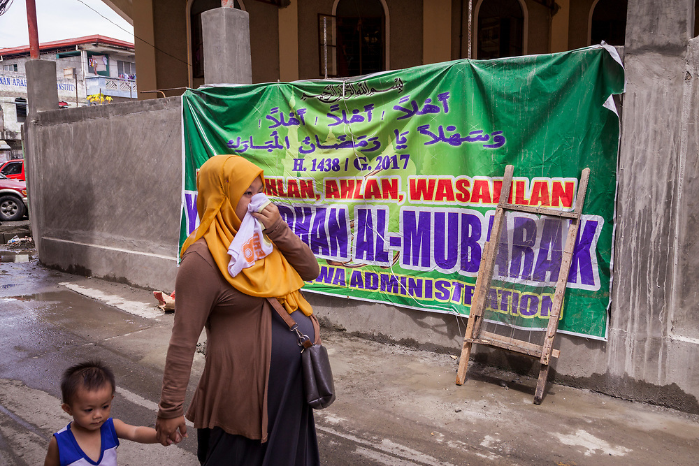 Davao City, Mindanao, Philippines - JUNE 22: A daily scene at the Mini Forest Barangay 23C. Thousands have fled Marawi to flee the ongoing conflict after the ISIS backed Maute Group has sieged the city. Currently, over 570 families and roughly 2500 evacuees from Marawi reside in the Mini Forest.