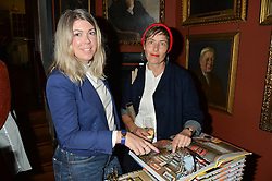 Left to right, SARAH JONES and landscape architect MAISIE ROWE at a party to celebrate the publication of English Houses by Ben Pentreath held at the Art Worker's Guild, 6 Queen Square, London on 28th September 2016.