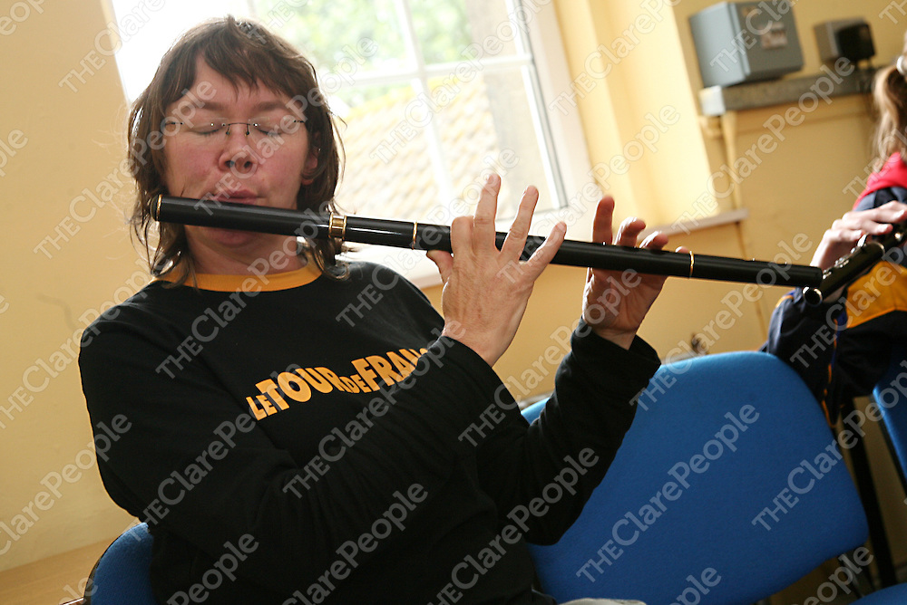 Mary Gillard at the Eigse Mrs. Crotty traditional music festival in Kilrush during the week.<br />