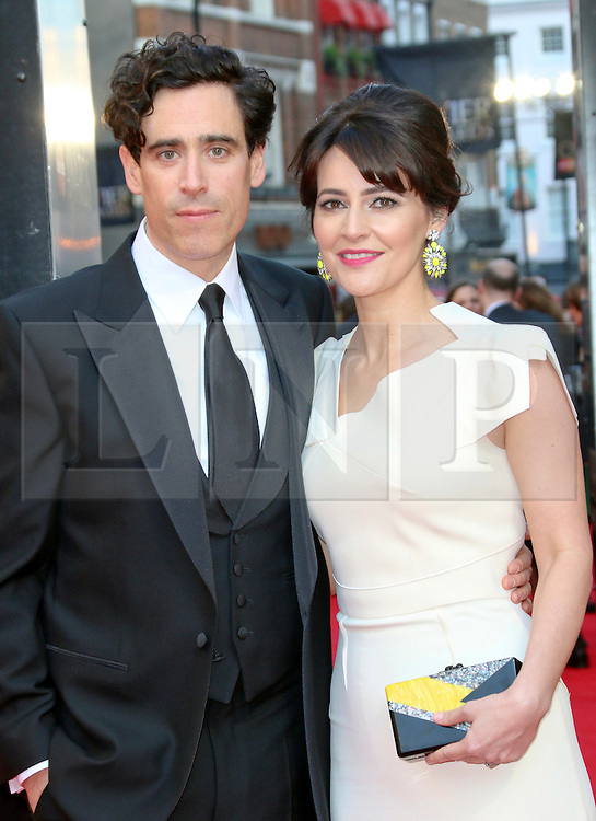 © Licensed to London News Pictures. 13/04/2014, UK. Stephen Mangan; Louise Delamere, The Laurence Olivier Awards, Royal Opera House, London UK, 13 April 2014. Photo credit : Richard Goldschmidt/Piqtured/LNP