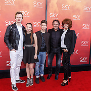 NLD/Amsterdam/20160403 - Premiere musical Sky, Marco Borsato met partner Leontine en kinderen Senna, Luca, Jada