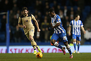 Kazenga LuaLua, Brighton midfielder during the Sky Bet Championship match between Brighton and Hove Albion and Leeds United at the American Express Community Stadium, Brighton and Hove, England on 24 February 2015.