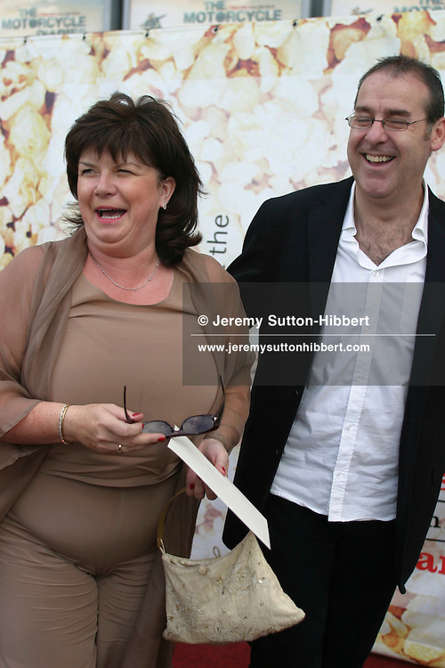 "Elaine C Smith, with unidentified male, at premiere of ""The Motorcycle Diaries"", Edinburgh Film Festival..(2 pictures, non-exclusive)"