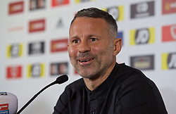 BARRY, WALES - Thursday, October 3, 2019: Wales manager Ryan Giggs during a press conference to announce his squad for the forthcoming UEFA Euro 2020 Qualifying Group E qualifying matches against Slovakia and Croatia. (Pic by David Rawcliffe/Propaganda)