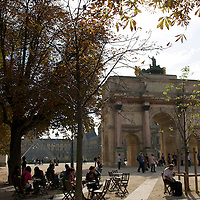 The Arc de Triomphe du Carrousel is a triumphal arch in Paris, located in the Place du Carrousel on the site of the former Tuileries Palace. It was built between 1806 and 1808 to commemorate Napoleon's military victories of the previous year.