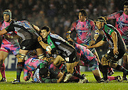 Twickenham, GREAT BRITAIN, Quins' Danny CARE, looks for support during the Heineken Cup Rugby Pool 4. Match, Harlequins vs Stade Francais, played at Twickenham Stoop, Twickenham, Surrey, on Sat, 13.12.2008.  [Photo, Peter Spurrier/Intersport-images]