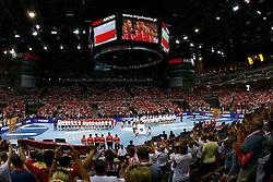 07.06.2014, Ergo Arena, Danzig, POL, IHF WM Qualifikation, Polen vs Deutschland, im Bild hala ergo arena kibic fan publika widok ogolny general view inside // during the IHF world championship qualification match between Poland and Germany at the Ergo Arena in Danzig, Poland on 2014/06/07. EXPA Pictures © 2014, PhotoCredit: EXPA/ Newspix/ Wojciech Figurski<br /> <br /> *****ATTENTION - for AUT, SLO, CRO, SRB, BIH, MAZ, TUR, SUI, SWE only*****