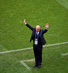 MOSCOW, RUSSIA - Sunday, July 1, 2018: Russia's head coach Stanislav Cherchesov during the FIFA World Cup Russia 2018 Round of 16 match between Spain and Russia at the Luzhniki Stadium. (Pic by David Rawcliffe/Propaganda)