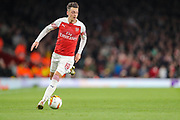 Arsenal midfielder Mesut Ozil (10) during the Europa League semi-final leg 1 of 2 match between Arsenal and Valencia CF at the Emirates Stadium, London, England on 2 May 2019.