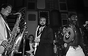 Lee Perry with John Martyn and Andy Sheppard at the Island 25 party - 1987