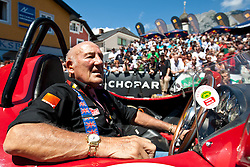 16.07.2011, Groebming, AUT, Ennstal Classic 2011, Chopard Grand Prix, im Bild Sir Stirling Moss (Ferrari 750 Monza Rennsportwagen, BJ 1955) // during Chopard Grand Prix at the Ennstal Classic 2011 in Groebming, Austria on 16/7/2011. EXPA Pictures © 2011, PhotoCredit: EXPA/ J. Groder