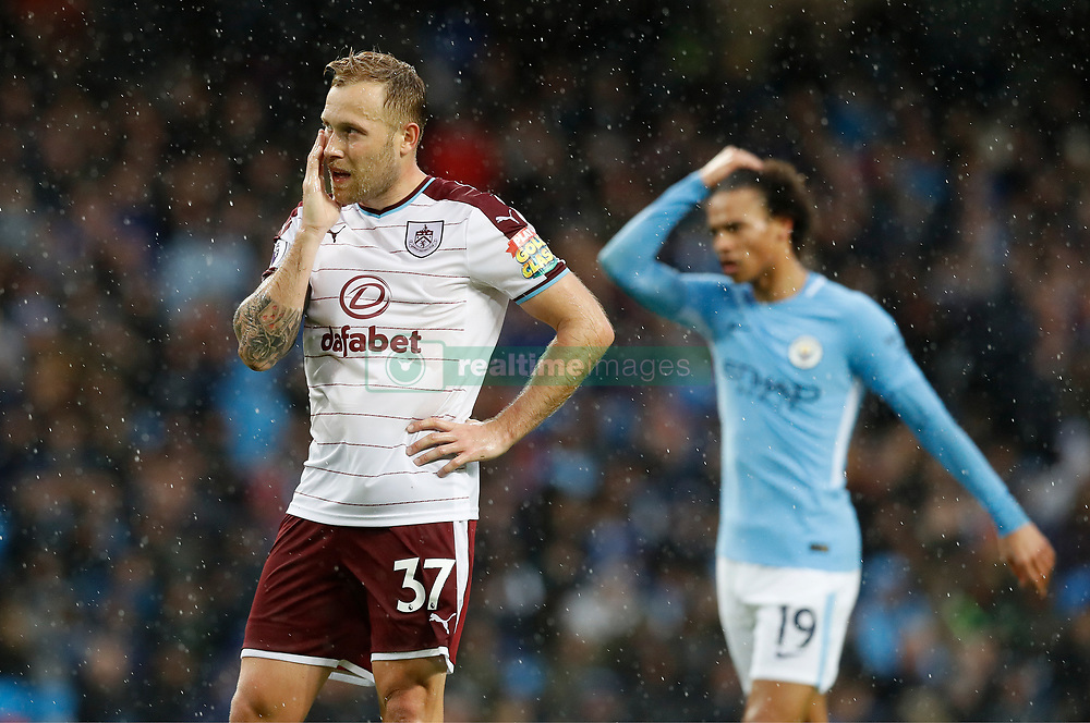 Burnley's Scott Arfield during the Premier League match at the Etihad Stadium, Manchester