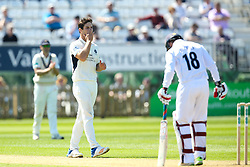 Hilton Cartwright of Middlesex cuts a frustrated figure - Mandatory by-line: Robbie Stephenson/JMP - 20/04/2018 - CRICKET - The 3aaa County Ground  - Derby, England - Derbyshire CCC v Middlesex CCC - Specsavers County Championship Division Two