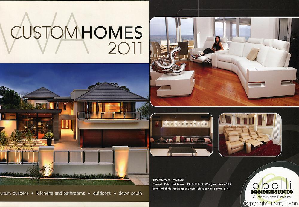 Custom Homes magazine, photography for Obelli Design Studio leather furniture