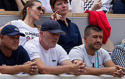 May 30, 2018 - Paris, Ile-de-France, France - Team of Djokovic watch the match during the second round at Roland Garros Grand Slam Tournament - Day 4 on May 30, 2018 in Paris, France. (Credit Image: © Robert Szaniszlo/NurPhoto via ZUMA Press)