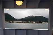 Chile. cruise boat - Diamond - Of the compagnie Ponant islands  Puerto Williams - Chile  <br /> /<br /> bateau le DIAMANT, compagnie des iles du PONANT  Puerto Williams - Chili <br /> /<br /> CHILE002