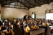 Cecilia teaching Science to a classroom of students at Tizza Primary School, Ghana.