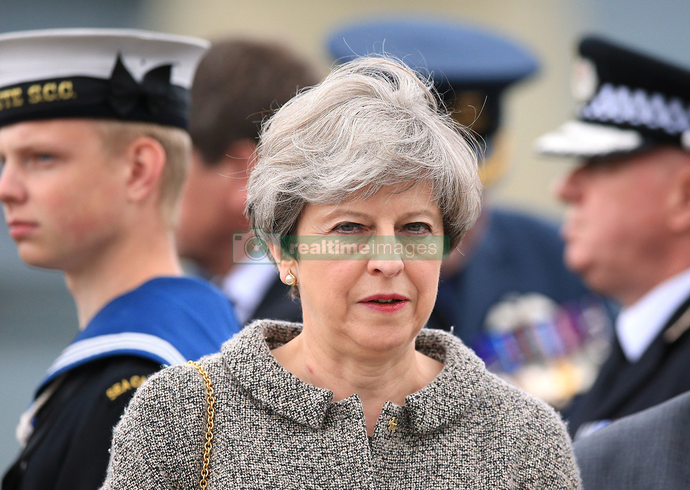 Prime Minister Theresa May attends the ninth annual Armed Forces Day in Liverpool.