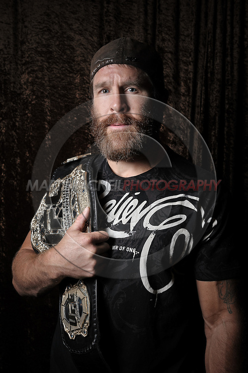 Portrait of mixed martial arts athlete Evan Tanner