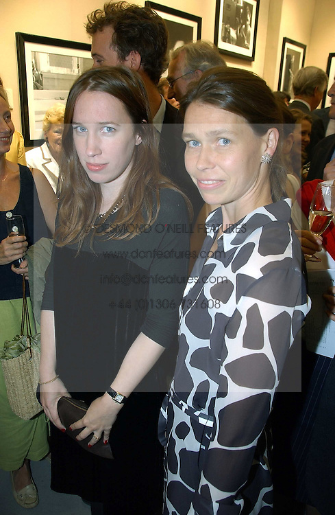 Left to right, sisters LADY FRANCES ARMSTRONG-JONES and LADY SARAH CHATTO at an exhibition of photographs by Lord Snowdon held at the Chris Beetles Gallery, Ryder Street, London on 18th September 2006.<br /><br />NON EXCLUSIVE - WORLD RIGHTS
