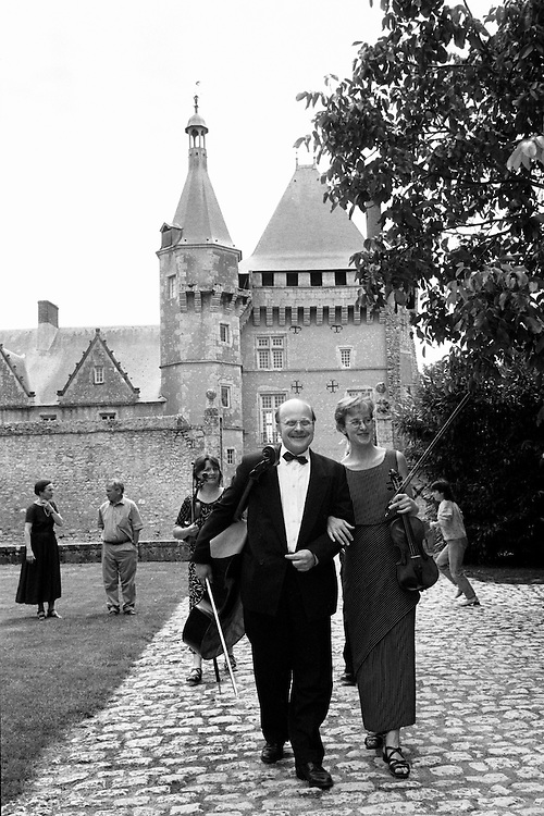 The Dehler Quartet arriving for a performance at chateau Talcy, a historic site in France's Loire Valley.