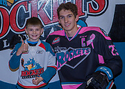 KELOWNA, CANADA - OCTOBER 21:  Pepsi Player of the game with Cal Foote #25 of the Kelowna Rockets at the Kelowna Rockets game on October 21, 2017 at Prospera Place in Kelowna, British Columbia, Canada.  (Photo By Cindy Rogers/Nyasa Photography,  *** Local Caption ***